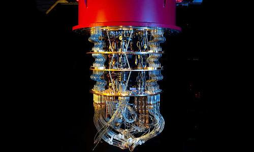 A quantum computer at Google's lab in California.